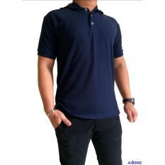 A&ME - Kaos Polo Shirt  M L XL Lengan Pendek Baju Pakaian Olah Raga Kaos Kerah Atasan Pria Wanita Lacos Pique Fashion Keren Nyaman Bagus Simple - Biru Dongker/Navy