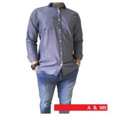 Harga A Me Kemeja Polos Cotton M L Xl Fashion Keren Bagus Moderen Simple Abu Online