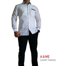 Spek A Me Kemeja Polos Fashion Keren Bagus Moderen Simple Putih M L Xl Indonesia