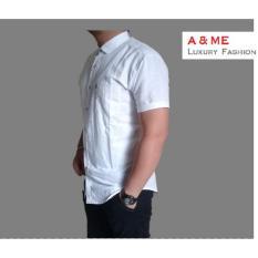 Harga A Me Kemeja Polos Pria Fashion Keren Moderen Bagus Simple Korean Putih Asli