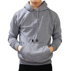 ABANGLAKU - Jaket Sweater Hoodie Pria Jumper Polos Bahan Fleece