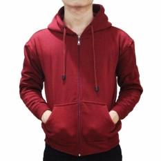 ABANGLAKU - Jaket Sweater Hoodie Pria Zipper Polos Bahan Fleece