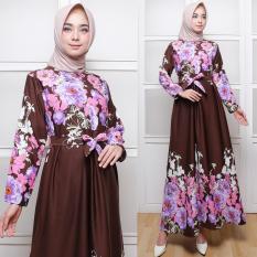 AbangSky Gamis Maxi Dres Bunga Besar Selena Brown (No Pasmina)