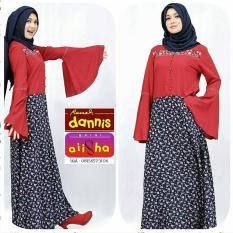 Abaya dannis motif bunga XL