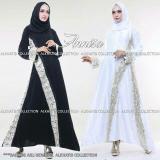 Spesifikasi Abaya Annisa Putih Dan Hitam Lengkap