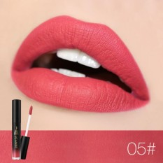 Abusun Merek Warna Tidak Mengkilap 8 Warna Metalik Cair Bibir Gloss Riasan Shimmer Beludru Lipstik Anti-Air Panjang Abadi Perlengkapan-Internasional