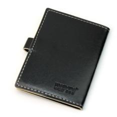 AC Hitam PU Kulit Dompet Tas Business Card Holder Saku Case For20 Kredit Kartu-Intl