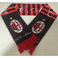 Spesifikasi A C Milan Football Club Soccer Syal Neckerchief Fan Souvenir Intl Paling Bagus