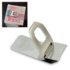AC Praktis Slim Stainless Steel Cash Money Clip ID Pemegang Kartu Kredit Mens Dompet-Intl