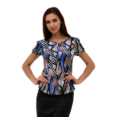 Toko Accent Nicole Slit Front Blouse Abu Abu Accent Online