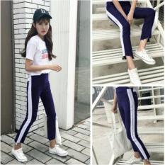 Harga Ace Fashion Celana Ow Pants List Putih Celana Joger Celana Stretch Celana Wanita Panjang 4 Warna