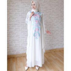 Harga Hemat Ace Fashion Dress Muslim Maxi Kaftan Asyanti 2017 Putih