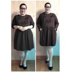 Ace Fashion Dress Wanita Smile Jumbo - (Hitam)