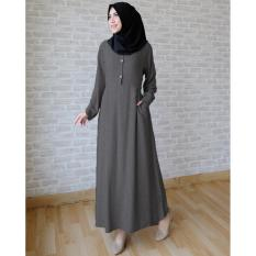 Harga Ace Fashion Long Sleeve Maxi Aida Grey Ace Fashion Terbaik