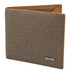 Cuci Gudang Acewin 628414 Men Leather Wallet Pockets Card Clutch Bifold Purse Light Coklat