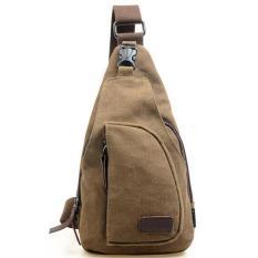 Beli Acewin 643752 Tas Sandang Kanvas Messenger Bag Pria Coklat Terbaru