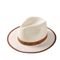 Acvip Kecil Musim Panas Anak Perempuan dan Anak Laki-laki Jerami Topi Fedora Panama Anak