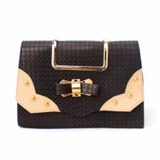 Adamsbell Tas Wanita Tangan Jinjing Slempang Hand Bag Kulit - Indigo Bag - Hitam