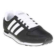 Promo Adidas City Racer Men S Shoes Core Black White Grey Murah