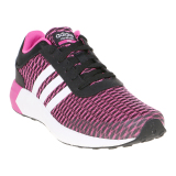 Jual Adidas Cloudfoam Race Women S Shoes Core Black White Shock Pink Adidas Asli