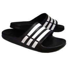Adidas Duramo Slide Sandal G15890-Sendal Pria - Hitam-Putih