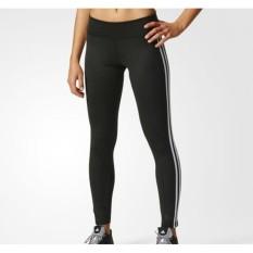 Adidas Legging D2M 3 stripes long thight - BQ2072 - hitam