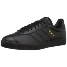 Adidas Originals Mens Gazelle Sneaker Bertali, Hitam/Hitam/Gold Metallic, KAMI-Internasional