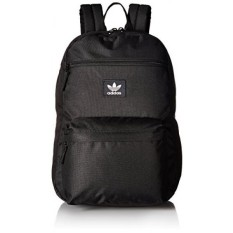 adidas Originals National Padded Backpack, Black/White, One Size - intl