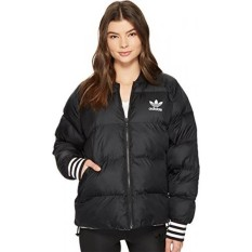 Adidas Originals Womens Superstar Reversible Jacket Black Kecil-Intl