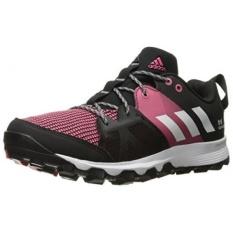 Adidas Outdoor Womens Kanadia 8 Trail Running Shoe, Hitam/Putih/Bahia Pink, KAMI-Internasional