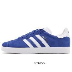 Adidas Sepatu Pria Semanggi Sepatu Sneakers Model Musim Panas (Sekolah Biru/Putih/Emas)