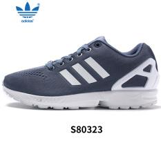Adidas S76499/S80323 Model Musim Gugur Semanggi Sepatu Kasual, sepatu Pria (Warna Biru Abu-abu/Putih/Biru Abu-abu)