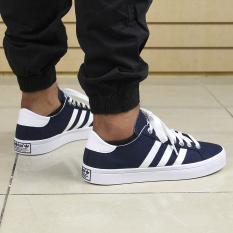Adidas S78764 Pria Originals Court Vantage Sepatu Kasual Navy White Silver  Metalik-Internasional ac3b03db3c