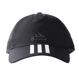Jual Adidas Six Panels 3 Stripes Cap Cotto Topi Pria Black White Murah