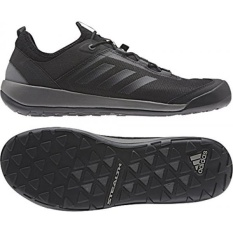 Adidas Sport Performance Mens TERREX SWIFT Solo Hiking Sneakers, Hitam, Mesh, Tekstil, Karet,-Intl