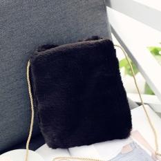 ADIYATE 2017 Fur Lnverno Novas Bolsas De Alta Qualidade Melakukan Mensageiro Bonito Dos Desenhos Bolsas Clutch Bag Bulu Messenger Bag -Intl