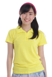 Review Adore Kaos Polo Wanita Kuning Adore