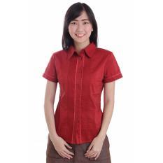 Spesifikasi Adore Kemeja Lengan Pendek Neci Merah
