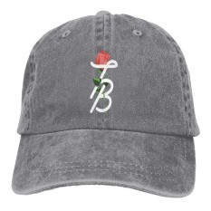 Adult Tessa Brooks Rose Retro Baseball Cap Cotton Denim Hat