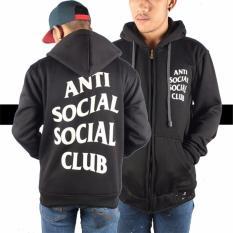 Review Terbaik Aduuh Jaket Hoodie Zipper Anti Social Social Club Best Seller Black