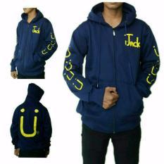 Jual Aduuh Jaket Hoodie Zipper Jack U Best Seller Biru Navy Termurah