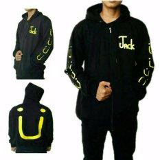 Harga Aduuh Jaket Hoodie Zipper Jack U Best Seller Black Aduuh Jawa Barat