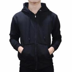Aduuh Jaket Hoodie Zipper Kasual Unisex Best Seller - Black