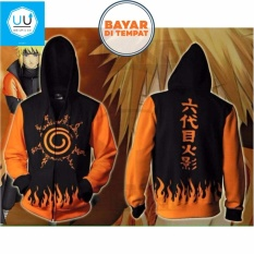 Aduuh Jaket Naruto (Naruto Anime Kyuubi Seal) Best Seller - Black/Orange