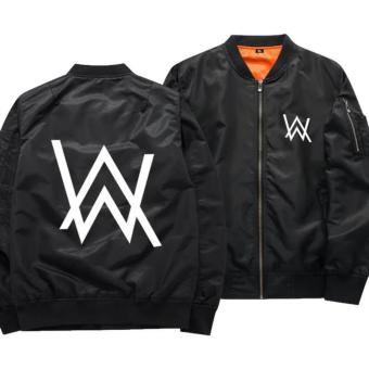 Review Toko Aduuh Jaket Pilot Bomber Zipper Dj Alan Walker Import Product Best Seller Black