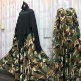 Beli Adzra Gamis Murah Syari Busana Muslim Wanita Army Dress Cicil