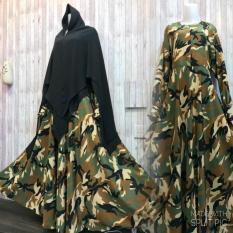 Spesifikasi Adzra Gamis Murah Syari Busana Muslim Wanita Army Dress Terbaik