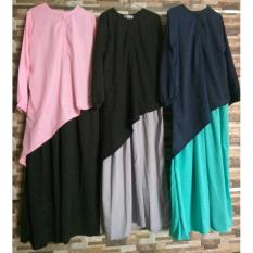 Spesifikasi Adzra Gamis Murah Syari Busana Muslim Wanita Celina Dress Dan Harga