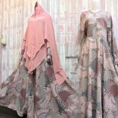 Diskon Adzra Gamis Murah Syari Busana Muslim Wanita Olinda Dress Coklat Adzra