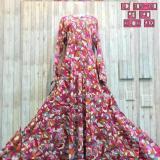 Harga Adzra Gamis Syari Murah Busana Muslimah Abstrak Flower Dress Online Indonesia